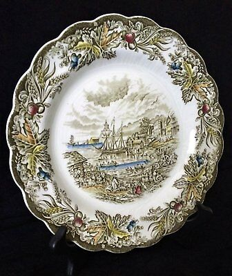 Vintage 1950's Ridgway Heritage Toronto Fish Market Plate made in England
