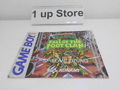 Nintendo Gameboy Turtles Fall of the Foot Clan Anleitung ( Instruction ) ( GB )