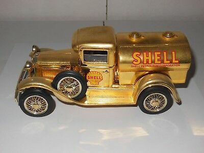 Shell Ford Model A Tanker Truck Diecast Truck Bank Gold Edition