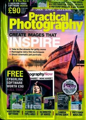 Practical Photography Magazine September 2018 With Free Gifts ~ New ~
