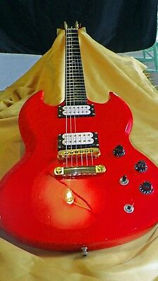 "GIBSON SG  ""Red/Gold Special"" with sizzling ""Iron Man"" buckers (22K) !!!!"