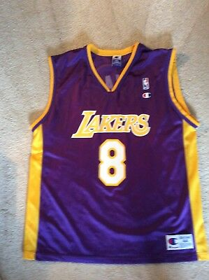 f3c1b70cd43 Vintage KOBE BRYANT  8 Los Angeles Lakers Champion Jersey Purple Size 44  Large
