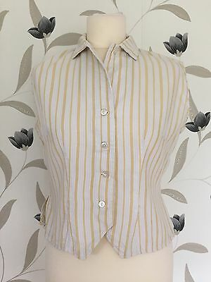 True Vintage Late 80's/early 90's Retro Vertical Stripe Blouse