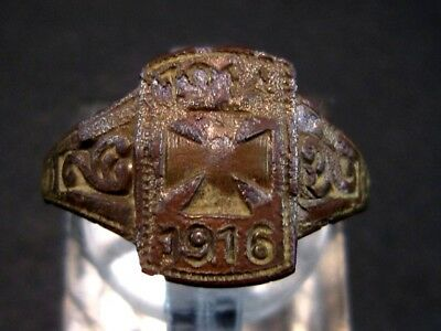 Extremely Rare Wwi 1914 - 1916  German Military Ring!!!