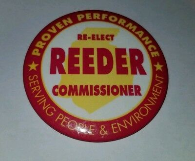 Bruce Reeder Frederick County Maryland Commissioner Pinback Button