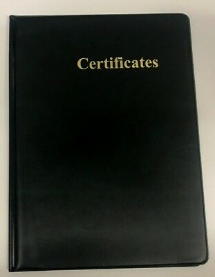 A5 Certificate Pvc Folder In Green Leather Look Pvc With Gold Blocked