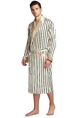 4ddc38aa1f90b5 Mens Silk Satin Long Robe Robes Bathrobe Nightgown Pajamas__For XMAS Gift