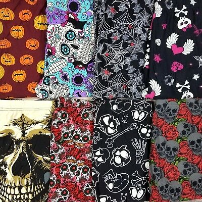 NEW Buttery Soft Halloween Leggings MYSTERY Spooky Skulls Black Cats Spider Webs