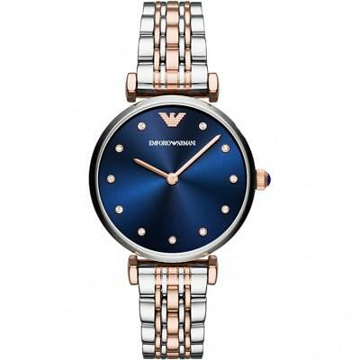 New Emporio Armani Ar11092 Ladies Two Tone Watch - 2 Year Warranty - Certificate