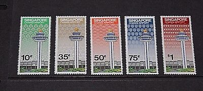 Singapore 1981 Opening Of Changi Airport Set Of 5   Fine Mint  M//n/h