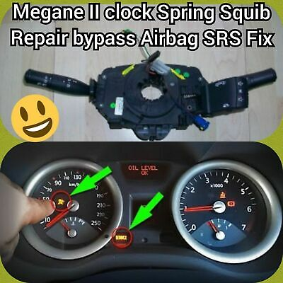 #RENAULT MEGANE II CLOCK SPRING AIR BAG SQUIB COUPLING WIPER - Bypass Repair Fix