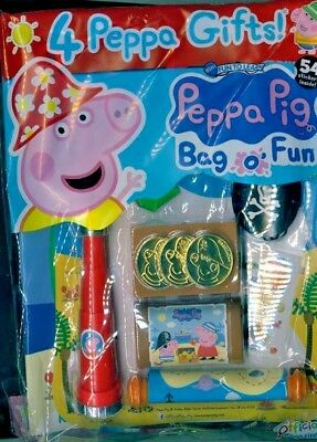 PEPPA PIG BAG OF FUN MAGAZINE ISSUE #102 ~ NEW WITH 4 x PEPPA GIFTS ~