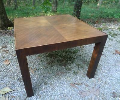 Mid Century Modern Vintage Parsons End Side Corner Lamp Table