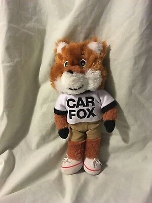 """BRAND NEW IN BAG 2018 CAR FOX 10"""" PLUSH  SAYS """" SHOW ME THE CARFAX """" L@@K"""