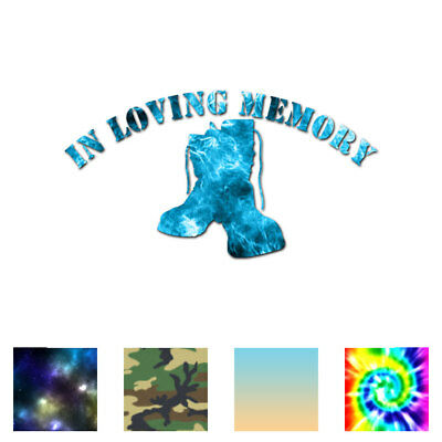 Loving Memory War Memorial - Decal Sticker - Multiple Patterns & Sizes - ebn3687