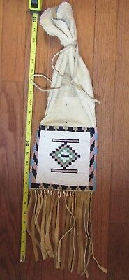 OLD BLACKFOOT BEADED PIPEBAG about 1940s from Montana Estate Collection
