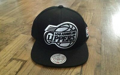 18bc3db961c ... coupon for mitchell ness nba los angeles clippers black white snapback  hat cap c2aef d4ea1 ...
