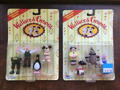 New 1989 Wallace and Gromit Wrong Trousers Figures and Feathers McGraw - BBC