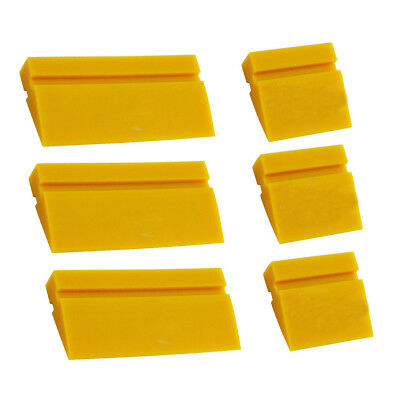 "US ""4+2"" Yellow Turbo Squeegee Rubber Water Blade for Car Window Tint Clean Tool"