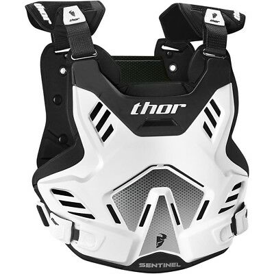 Thor MX Kids NEW Sentinel GP Roost Chest Protector White Black Youth Body Armour