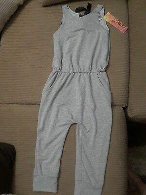 Tru Luv Gray Jumpsuit Romper Long Pants Sleeveless Modern Citizen Jumper Girls 8