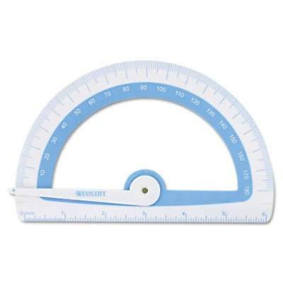 Soft Touch School Protractor With Microban Protection, Assorted Colors, Sold as