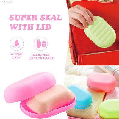 AB70 StorageHolderContainer Soap Dish Case Oval Soap Box Portable Lightweight