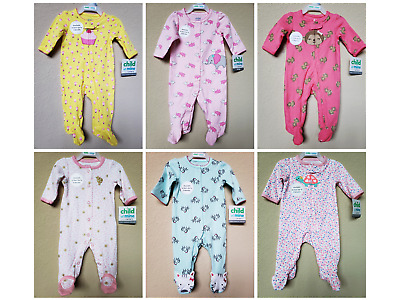 *nwt- Carter's - Baby Girl's Sleep And Play - Size: Nb - 6-9M