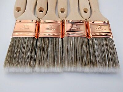 """Set of 8x2"""" painting contractor Pro quality brush decorating paint brushes HEKO"""