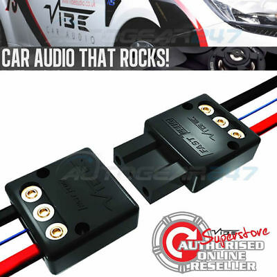 Vibe Active Fast Plug Car Quick Release Amplifier Amp Sub Box Power Connector