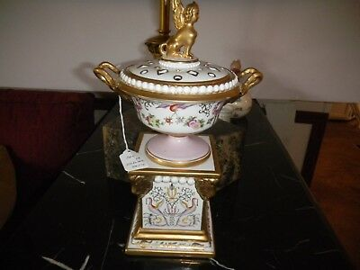"""Chelsea House Urn with Top and Stand –  Total height 13"""" Pristine Condition"""