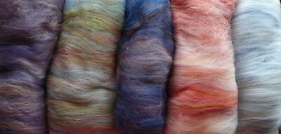 Shetland Landscapes Carded Wool Art Batt 5 Choices Dyed Wool UK Breed Felt Spin