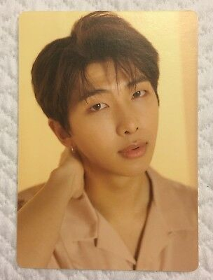 BTS The World Tour Love Yourself Official Mini Photo Card RM 1/8