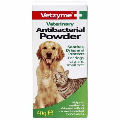 Vetzyme Antibacterial Powder For Soothing Broken / Irritated Skin Dogs Cats