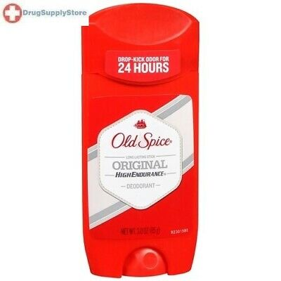 Old Spice High Endurance Solid Men's Deodorant Original 3 oz: 3 packs