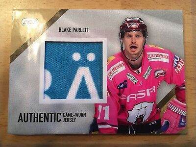 Del Limited Authentic Game-Worn Jersey Card Blake Parlett 43/45
