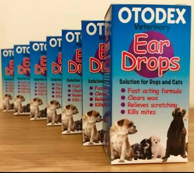 Petlife Otodex Ear Drops Dogs Cats Pets Kills Mites Eardrops SAMEDAY DISPATCH