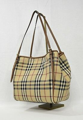 b05565279023 NWT Burberry Horseferry Check Small Canterbury Tote in Honey Tan. Classic  Canter