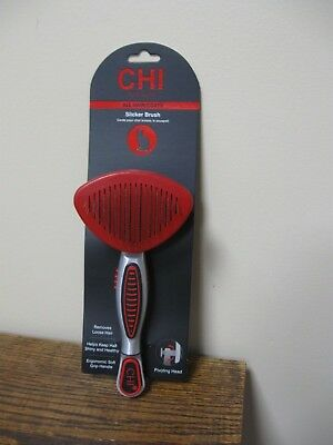 New! CHI Slicker Brush with Pivoting Heads For Cats All Hair Coats