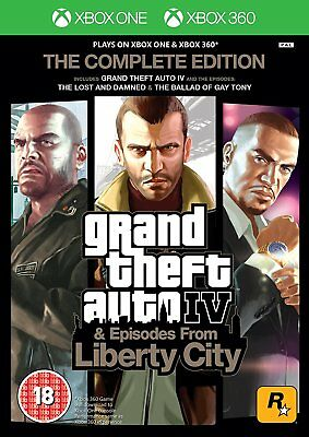 Gta Iv 4 Grand Theft Auto_Ed Complete_Xbox One & 360_ Jeu Francais_Neuf S/cello