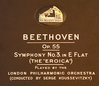LONDON PHILHARM. & KOUSSEVITZKY Beethoven: Symphony No. 3 in E Flat EROICA  A154