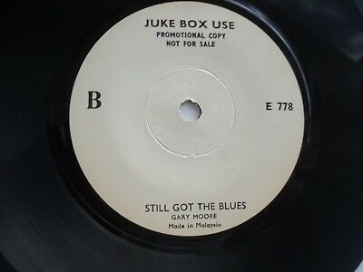 GARY MOORE - Still got the Blues- Rare MALAYSIA JUKE BOX USE/ PROMO 45 RPM