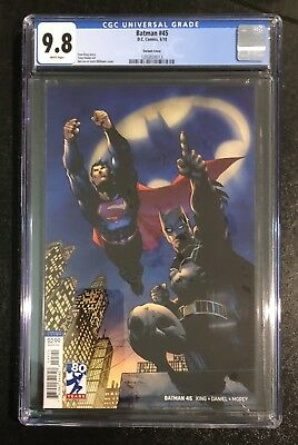 Batman 45 Jim Lee Variant Cover Superman Cgc 9.8 2018 Not Pgx Cbcs