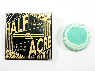 Half Acre Beer Company Pin-back Buttons Art Pins Lot, Chicago Brewery Breweriana