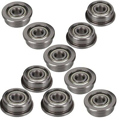 4 PCS SF683zz Stainless Steel Flanged Ball Bearings F683zz 3*7*3 3x7x3 mm