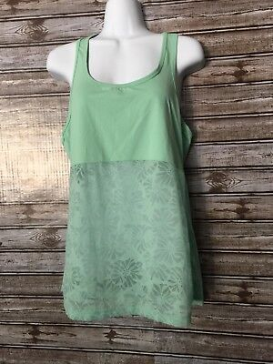 a5a0441c1d2 FABLETICS WOMEN S TANK Top Cashel Racerback Lace Sea Glass Green ...