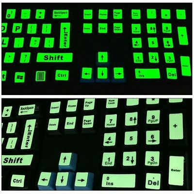 Fluorescent Keyboard Cover Full Keyboard Large Letter Sticker Keyboard Sticker