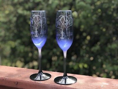 Custom Engraved Champagne Flutes For Wedding Toasting Glasses For Mr And Mrs