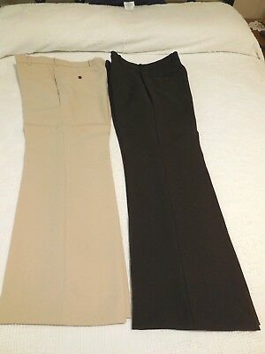 2 Pairs Levi's Action Slacks--Brown and Tan