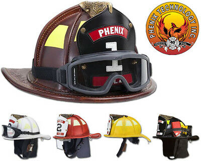 Phenix TL2 Traditional Leather Firefighting Helmet - All Colors- Standard Bend